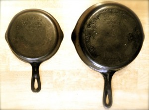 WagnerWare Cast Iron Skillet: #3 and #6