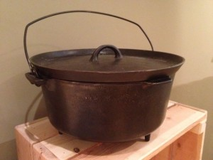 Griswold Dutch Oven at the New Mexico History Museum in the Cowboy Exhibit